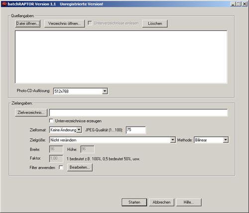 Screenshot für BatchRaptor